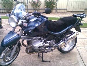 BMW R 1150 R 1999-2006 Black Sheepskin Motorcycle Seat Cover