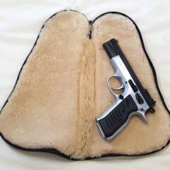 Sheepskin Gun Rug Pistol Pouch